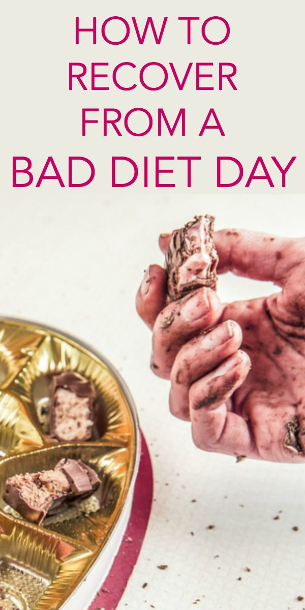 how to recover from a bad diet day