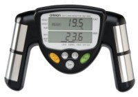 measure body fat percentage with body fat monitor