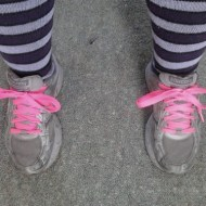 New Laces (Pink) & New Reads (Overcoming Overeating)