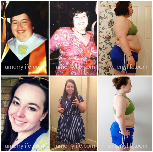 before and after weight loss collage amerrylife.com 2