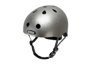 Cool bike helmet silver sparkle