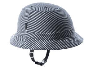 Tokyo blue stripe bike helmet