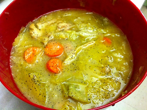 Chicken and apple stew lunch