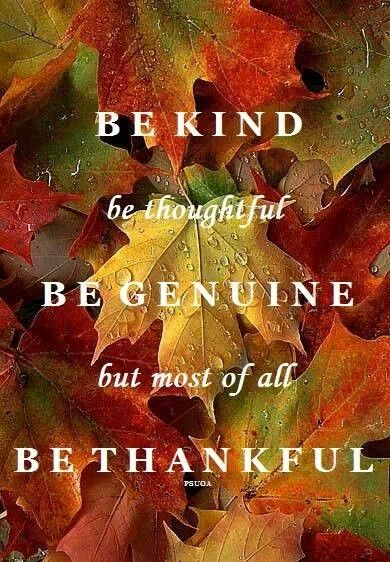 be kind be thankful