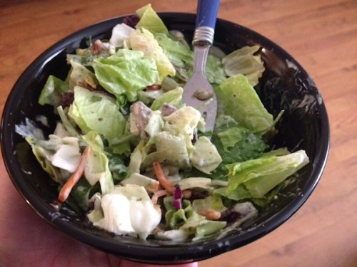 salad mix with dressing