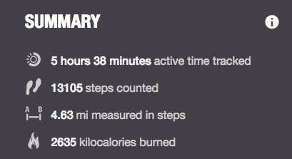 steps count saturday