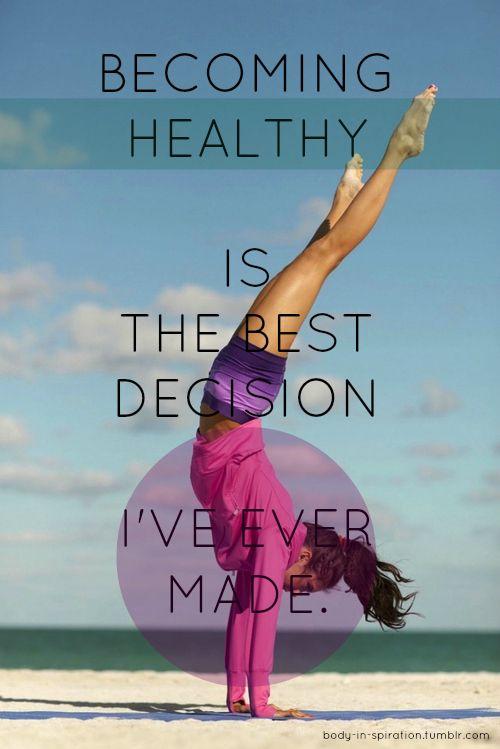fitness motivation quote - best decision