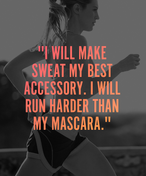 fitness motivation quote - sweat accessory