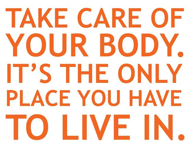 fitness motivation quote - this body is your only one