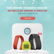 Last Minute Christmas Gifts: FREE SHIPPING on Fitbit Gifts