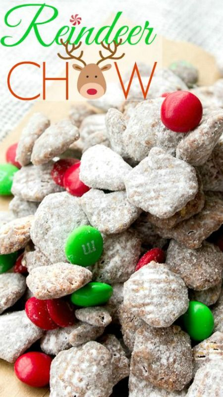 reindeer chow puppy chow christmas dessert