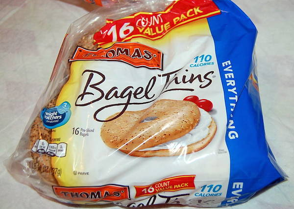 grocery haul - bagel thins