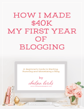 how i made $40k my first year of blogging ebook