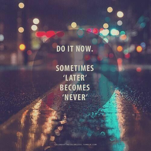 inspiring new years resolutions - do it now