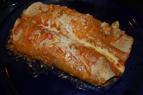 Spinach and Turkey Enchiladas healthy recipe