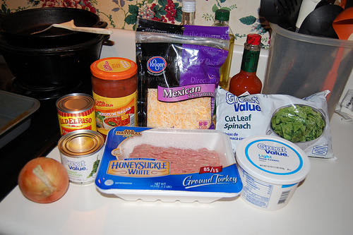 Spinach and Turkey Enchiladas ingredients