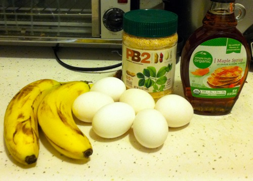 healthy recipe - banana egg pb2 pancake recipe ingredients
