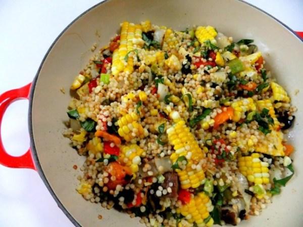 couscous recipe - grilled veggie couscous
