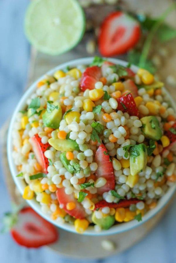 couscous salad recipe - strawberry avocado couscous by Damn Delicious