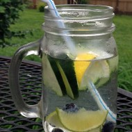 Cucumber Lime Blueberry Infused Water