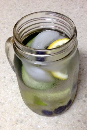 cucumber lime lemon detox water