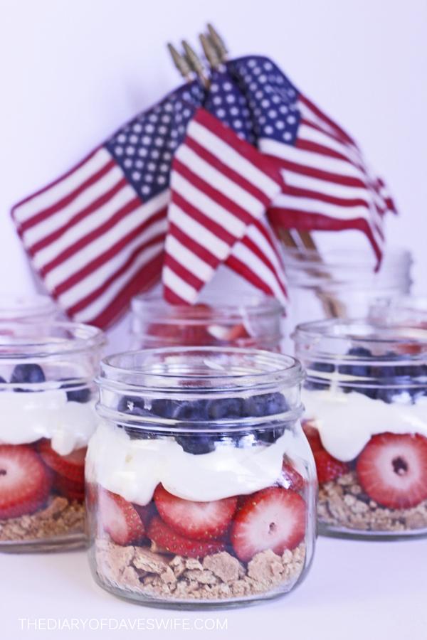 fourth of july recipe - patriotic Parfait