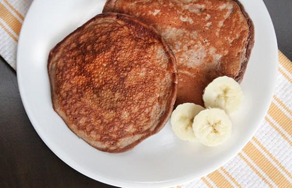 chocolate banana protein pancake