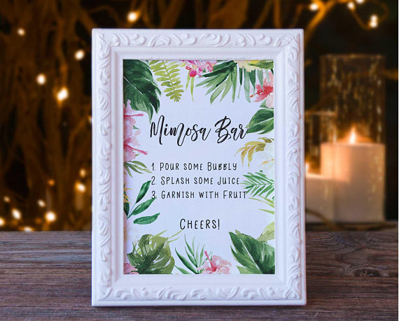 baby Shower Mimosa Bar Sign BY Tpp Cards