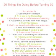 20 Things I'm Doing Before Turning 30