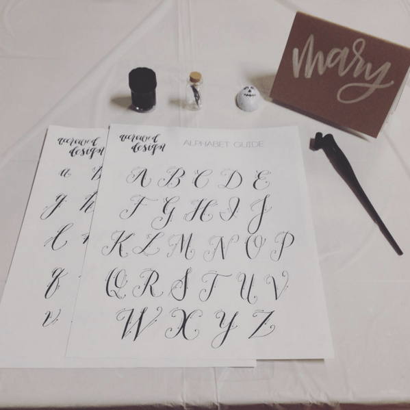 first calligraphy class