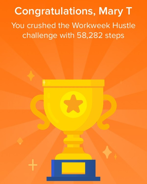 workweek hustle fitbit steps
