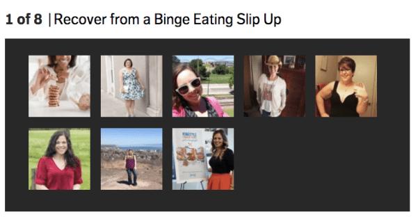 shape.com magazine feature on binge eating