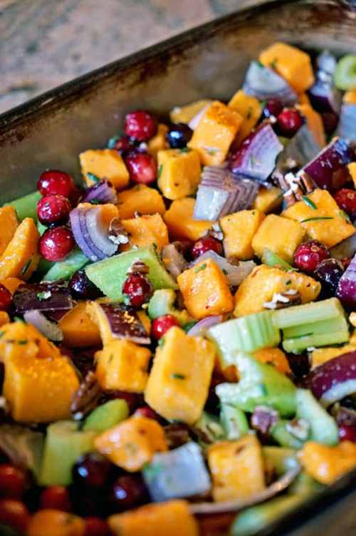 Butternut Squash Celery - Whole 30 Thanksgiving Recipes