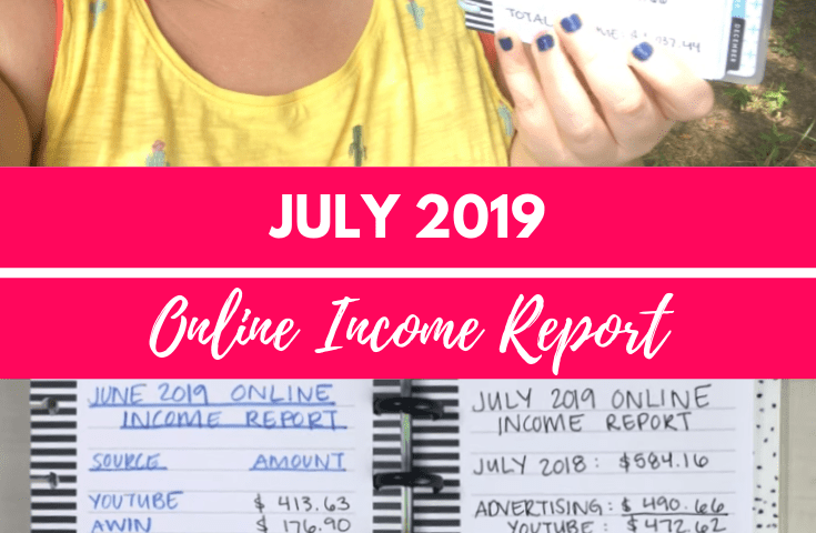 July 2019 Online Income Report