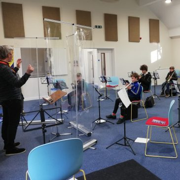 Inaugural Brass Roots session in our new bandroom