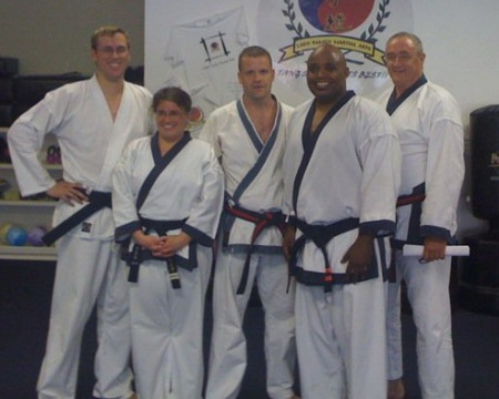 Master Amerson (left) at Tang Soo Do Test