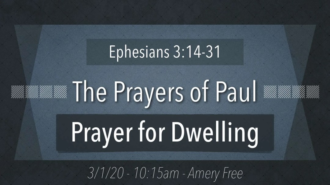 Prayer for Dwelling