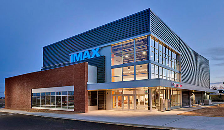 Exterior shot of Penn Cinema's IMAX Theater.
