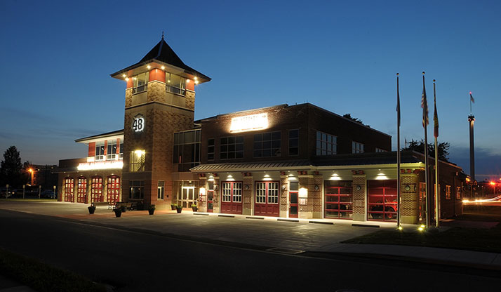 Exterior of Hershey Fire House
