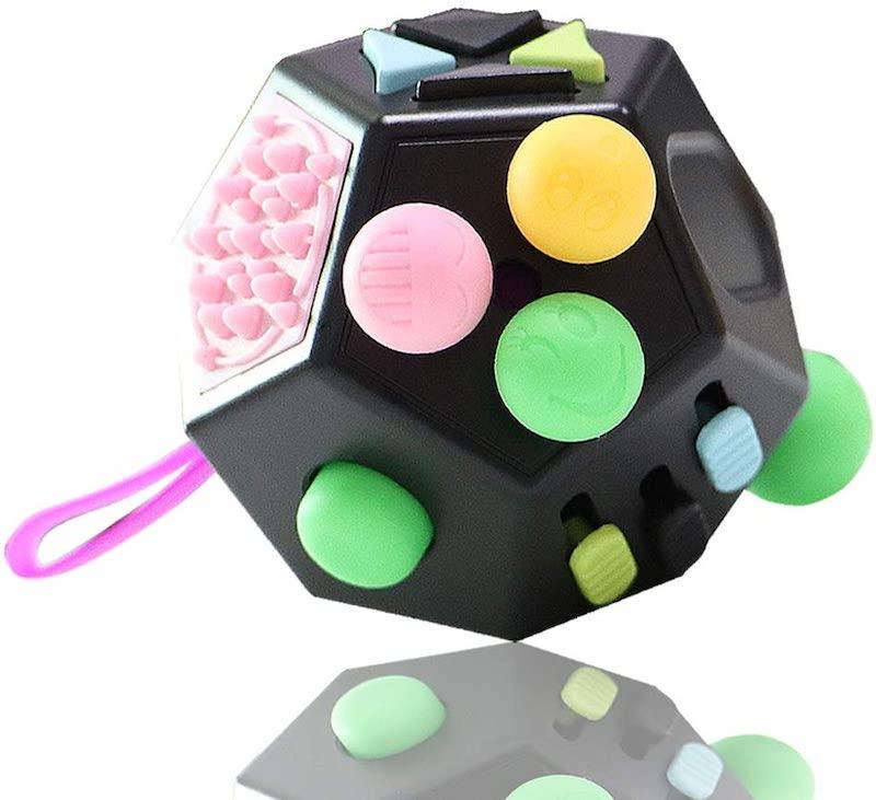 2 Sided Fidget Cube For Kids Sensory.