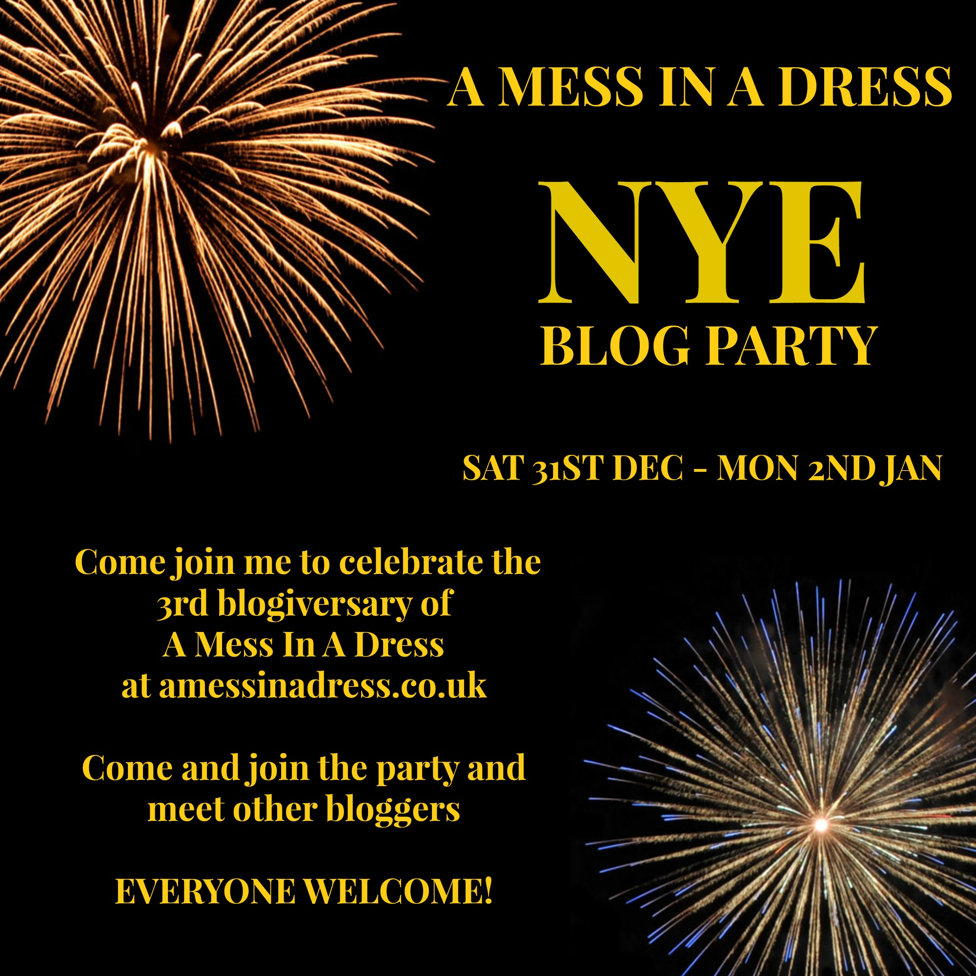 A Mess In A Dress | New Years' Eve Blog Party 2016