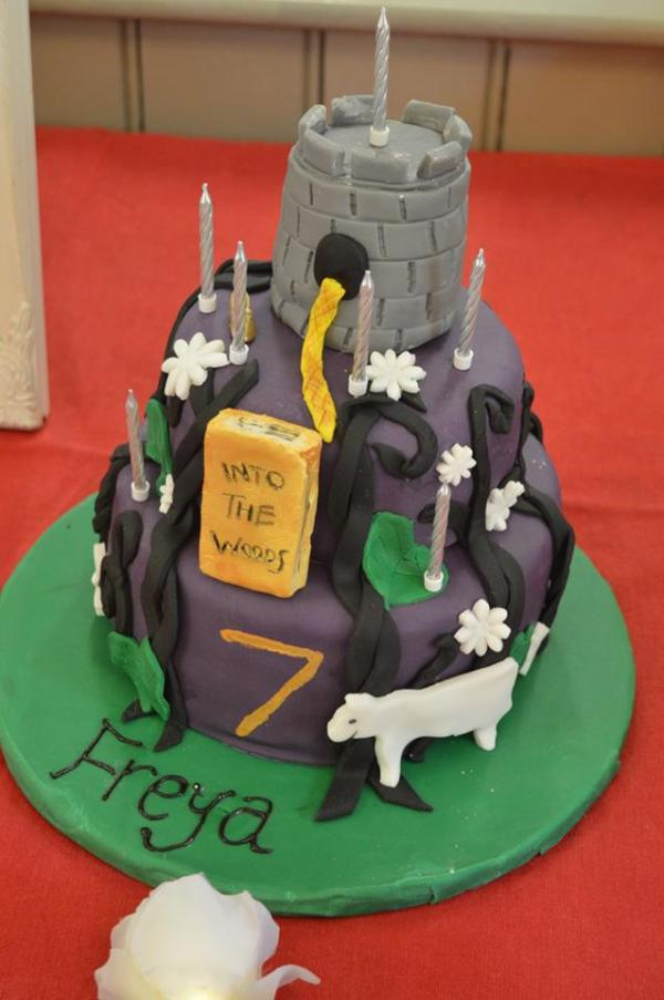 into the woods birthday cake party