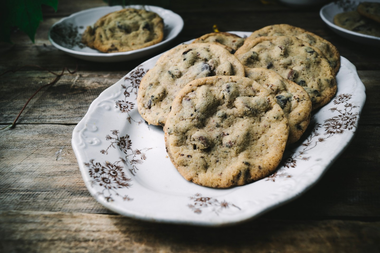 crisp buttery chocolate chip cookies with a chewy soft center