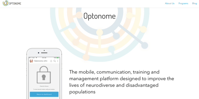 Screenshot of Optonome Website