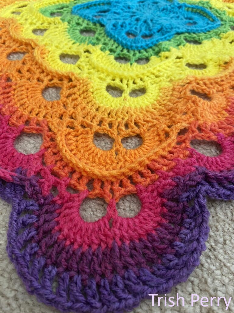 Textured Virus Blanket by Trish Perry