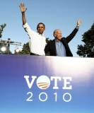 U.S. President Barack Obama and Vice President Joe Biden attend a rally at Vernon Park in Philadelphia