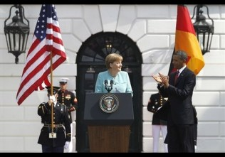 Barack Obama, Angela Merkel