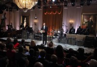 """U.S President Barack Obama addresses the audience attending the """"In Performance at the White House"""" event in Washington"""
