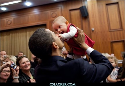 President Obama & Babies4
