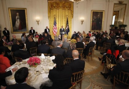 U.S. President Obama delivers remarks during an Easter Prayer Breakfast at the East Room of the White House in Washington